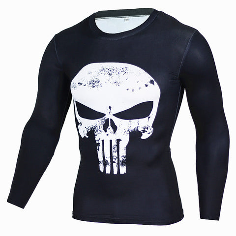 T Shirt De Compression The Punisher (Be A Hero Technology)