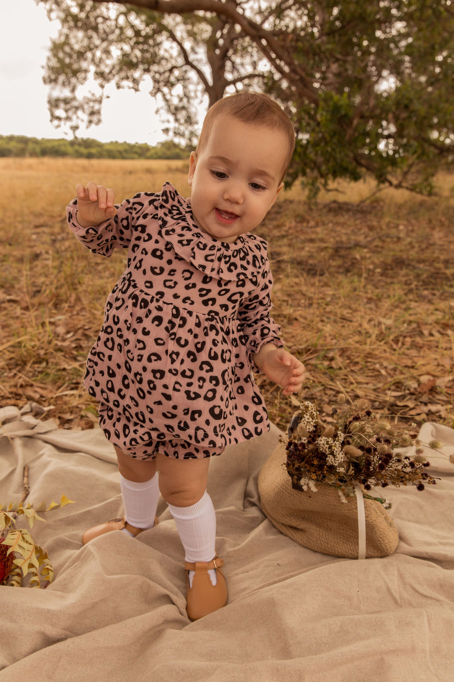 Ellie Set Blush Leopard