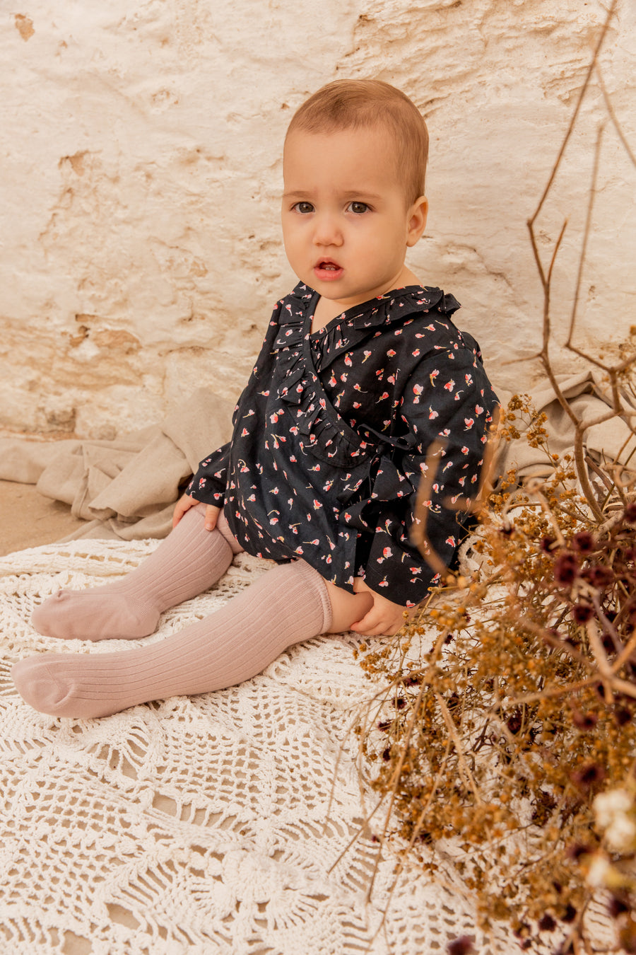 Ellie Set Navy Rose