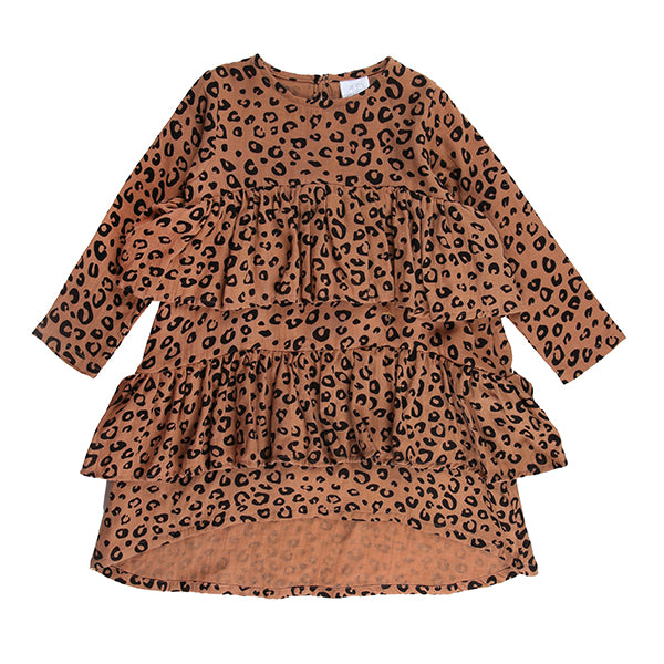Anna Dress Rust Leopard