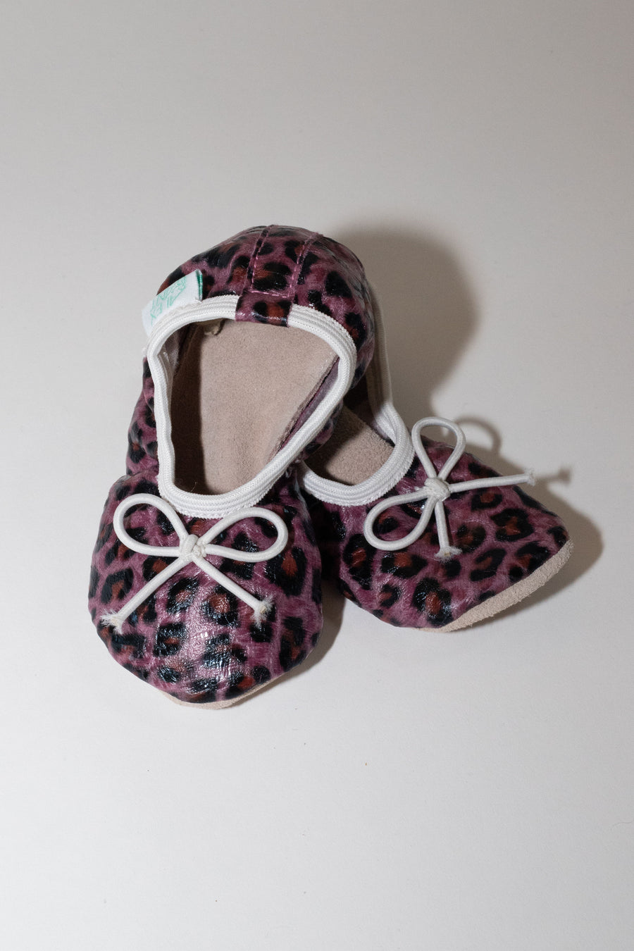 BALLET PURPLE CHEETAH FIRST WALKER SHOES