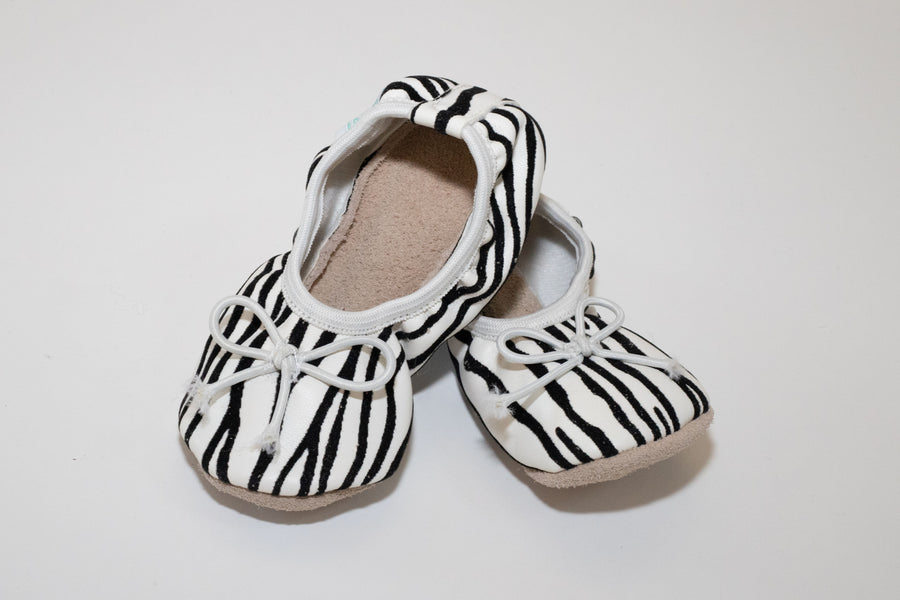 ZEBRA PRINT SOFT LEATHER SOLE PRE-WALKER