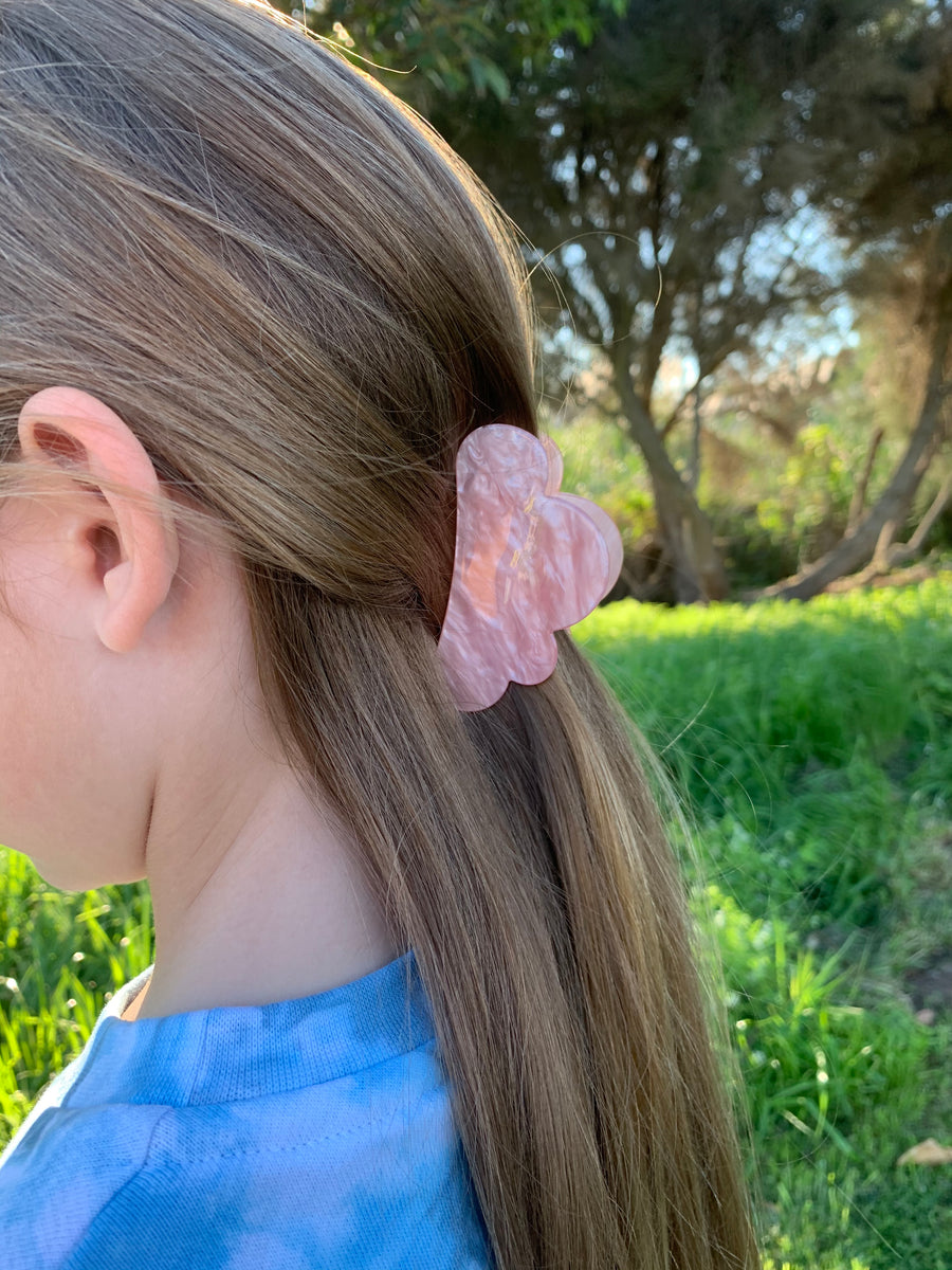 Pink Cloud Butterfly Clip