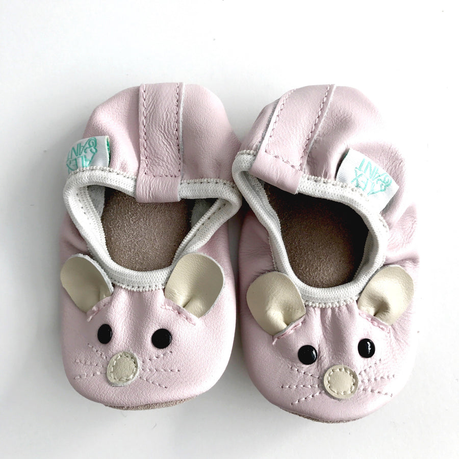 LITTLE MOUSE BALLET / PINK SOFT LEATHER PRE-WALKER