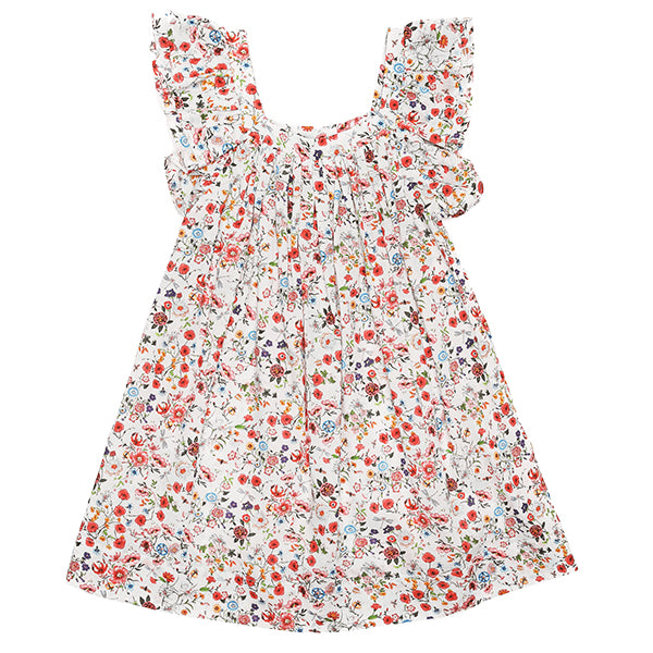 Gracie Dress in White Floral