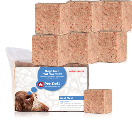 Pet Deli Veal Mince Dog Food, Dog Raw Food Diet, Raw Mince for cats and dogs, Pet.co.nz, Pet Mince