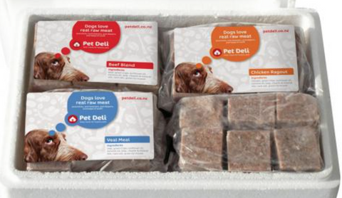Pet Deli Frozen Raw Food Combo Pack 4kg box