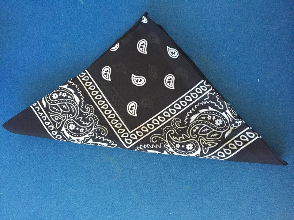 Cotton blend, paisley print do-rag for your rockabilly hair