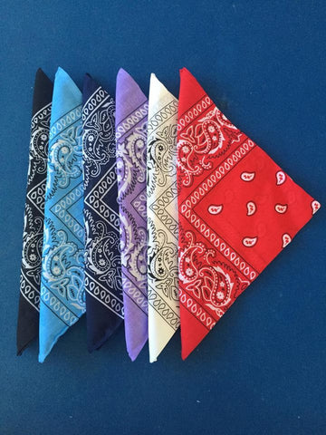 Cotton blend, paisley print bandana for your rockabilly hair
