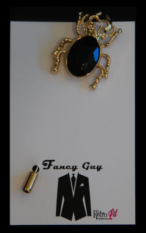 Bertie Beetle Lapel Pin - Fancy Guy by Retro Lil