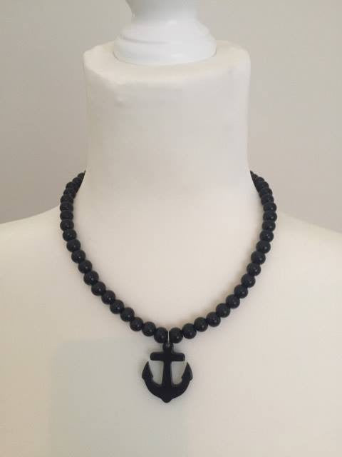 Pearl with Anchor Necklace