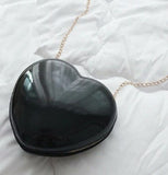 Black heart crossbody bag