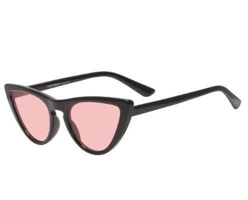 Black Cats' Eye Sunglasses featuring pink lens