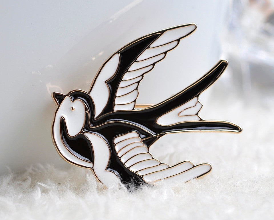 Swallow Brooch - Various Colours