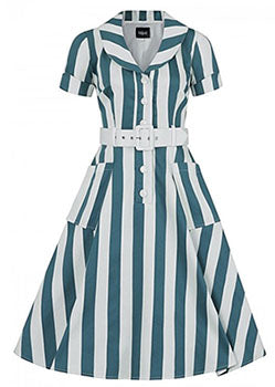 Collectif Brette Glade Stripe Swing Dress