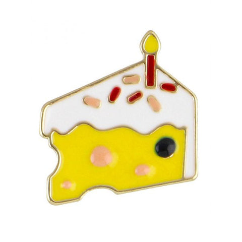 Cake Slice Lapel Pin