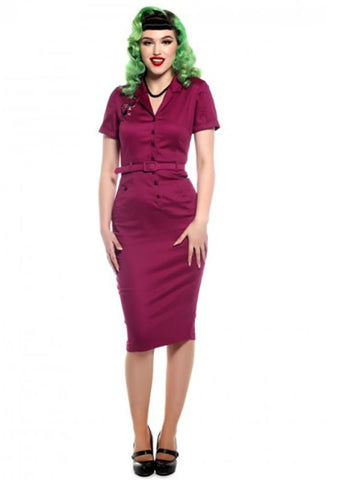 Collectif Caterina Atomic Cat Pencil Dress