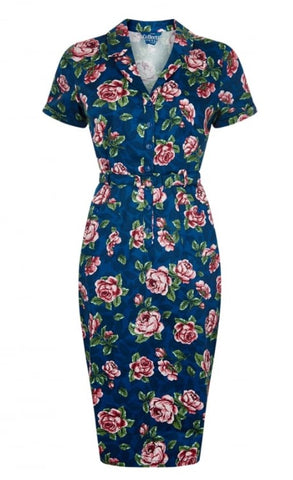 Collectif Caterina Bloom Floral Pencil Dress