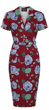 Collectif Caterina Large Bloom Pencil Dress