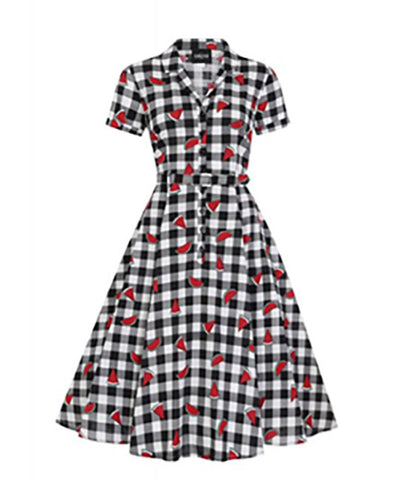 Collectif Caterina Watermelon Swing Dress