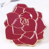 Cool Rose Lapel Pin Rockabilly Retro Pinup