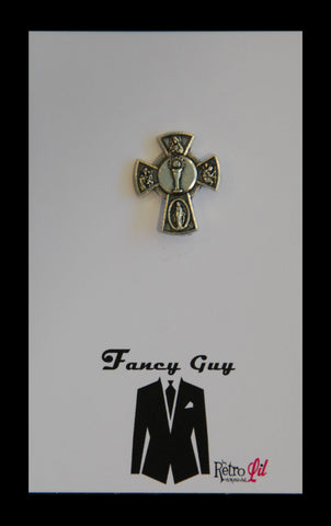Cross Lapel Pin - Fancy Guy by Retro Lil