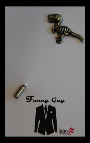 Dino Lapel Pin - Fancy Guy by Retro Lil