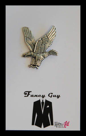Silver Eagle Lapel Pin - Fancy Guy by Retro Lil