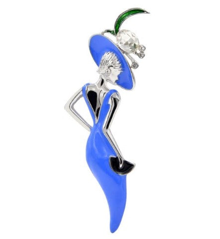 Fifi Fashionista Brooch - Blue