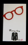 Glasses Tie Clip Red - Fancy Guy by Retro Lil