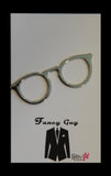 Glasses Tie Clip Silver - Fancy Guy by Retro Lil