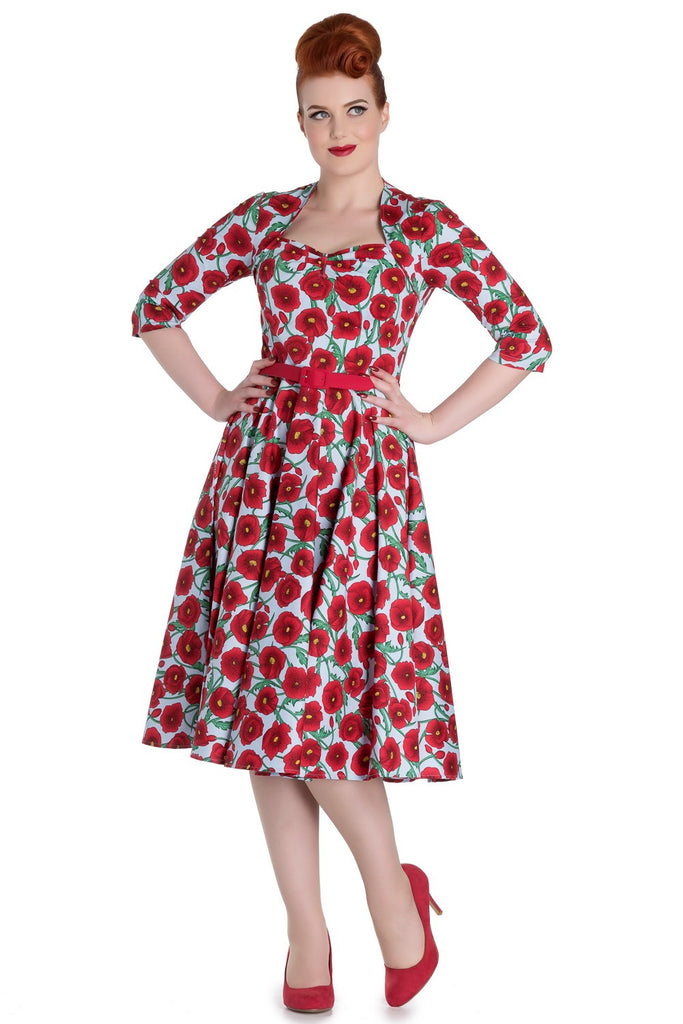 Hell Bunny Poppy 50s Dress Rockabilly Retro Pinup