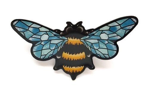 Crystal Queen Bee Brooch by Jubly Umph Rockabilly Retro Pinup