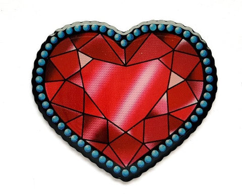 Crystal Heart Brooch by Jubly Umph Rockabilly Retro Pinup