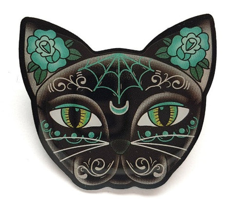 Luna Black Kitty Brooch by Jubly Umph