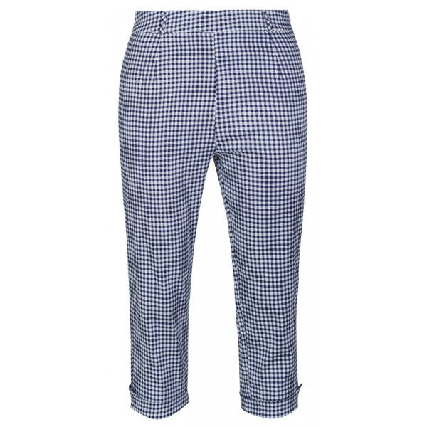 Lindy Bop Kendra Blue Gingham Capri Pants casual retro
