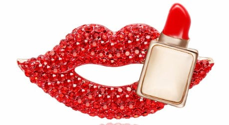 Lipstick Lips Brooch
