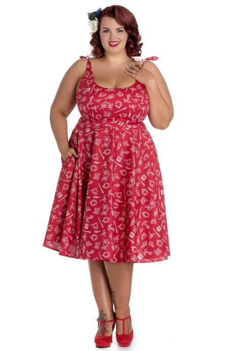 Hell Bunny Marin 50s Dress - Plus Size Rockabilly Retro Pinup