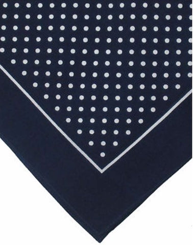 Navy Polka Dot Do Rag