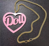 Doll Necklace - Pink