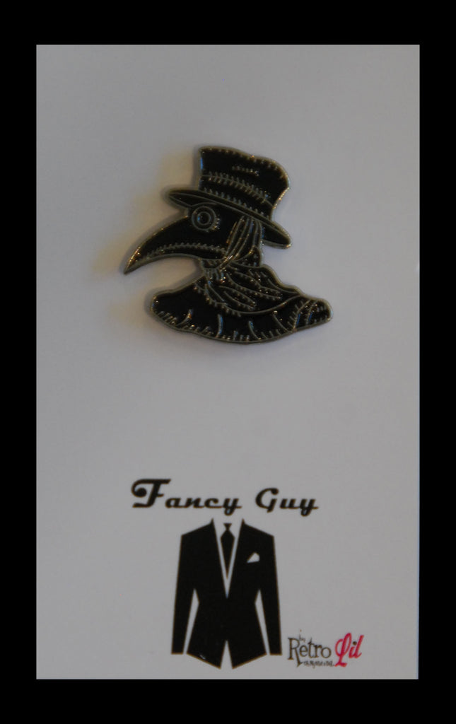 Plague doctor lapel pin - Fancy Guy by Retro Lil