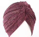 Rose pink sparkle turban