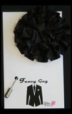 Black Rosette Lapel Pin - Fancy Guy by Retro Lil