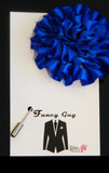 Blue Rosette Lapel Pin - Fancy Guy by Retro Lil