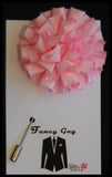 Pink Rosette Lapel Pin - Fancy Guy by Retro Lil