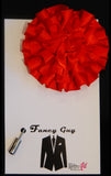 Red Rosette Lapel Pin - Fancy Guy by Retro Lil