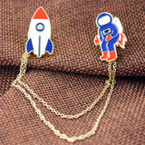 Spaceman Planet Brooches - 3 designs