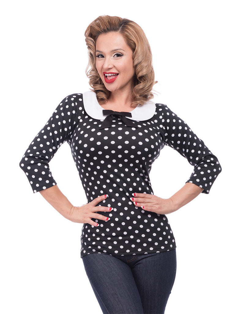 Steady Clothing Polka Dot Baby Doll Top
