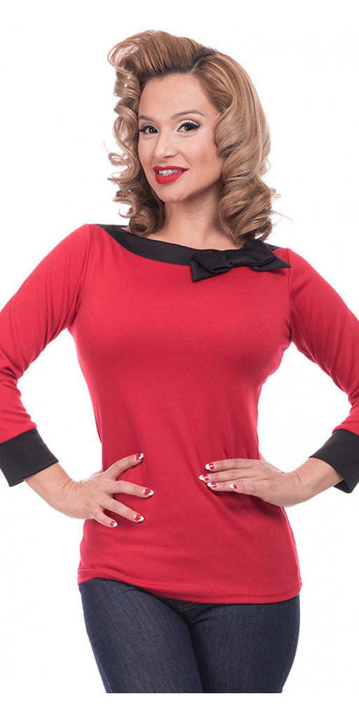 Steady Clothing Solid Boatneck Bow Top