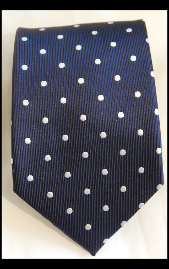 Navy Polka Dot Tie - Fancy Guy by Retro Lil